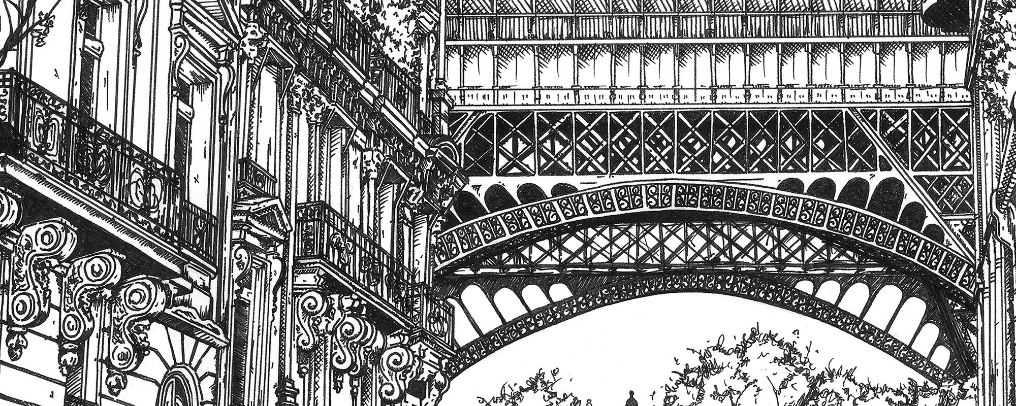 Line detail of Eiffel