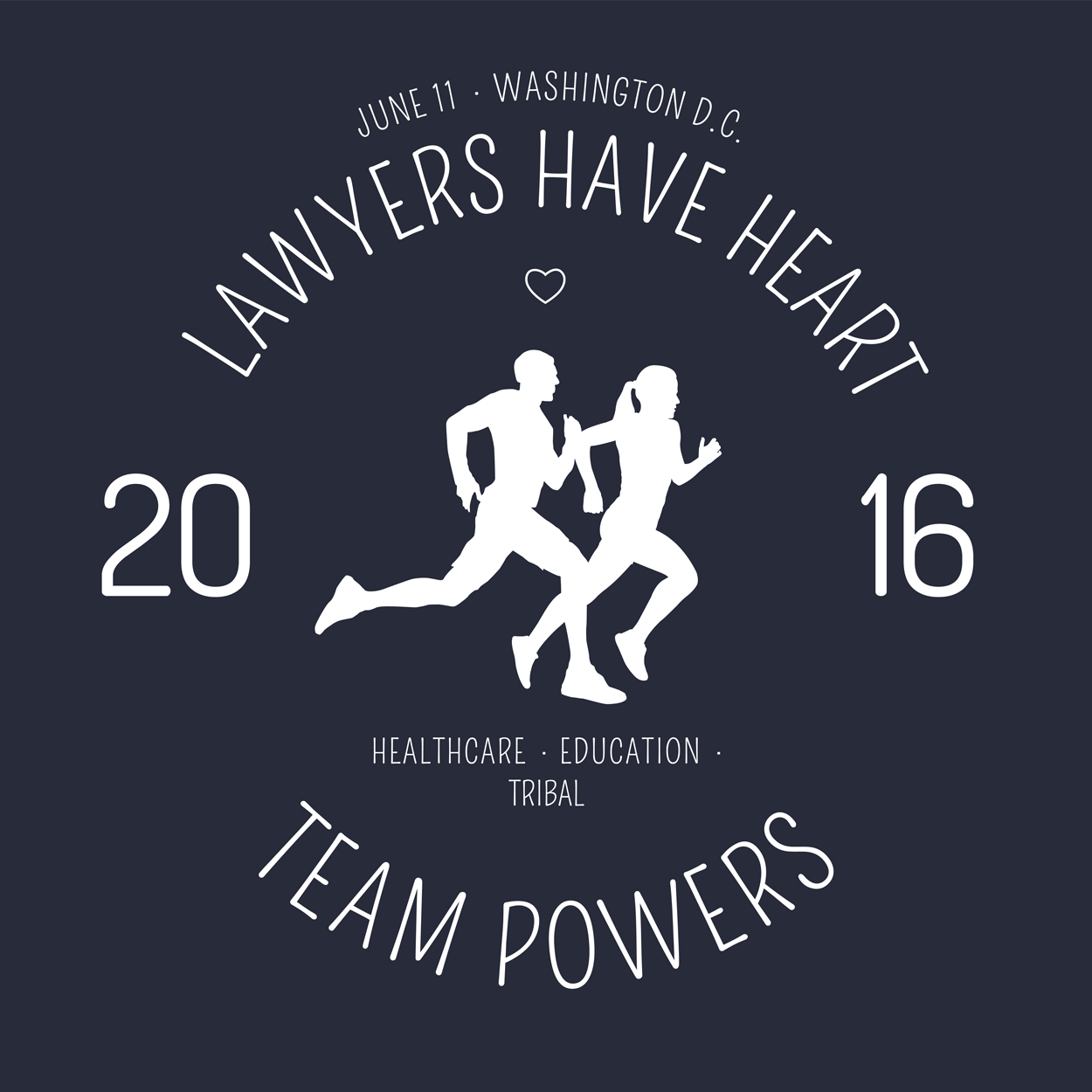 Lawyers Have Heart t-shirt logo for PPSV law firm