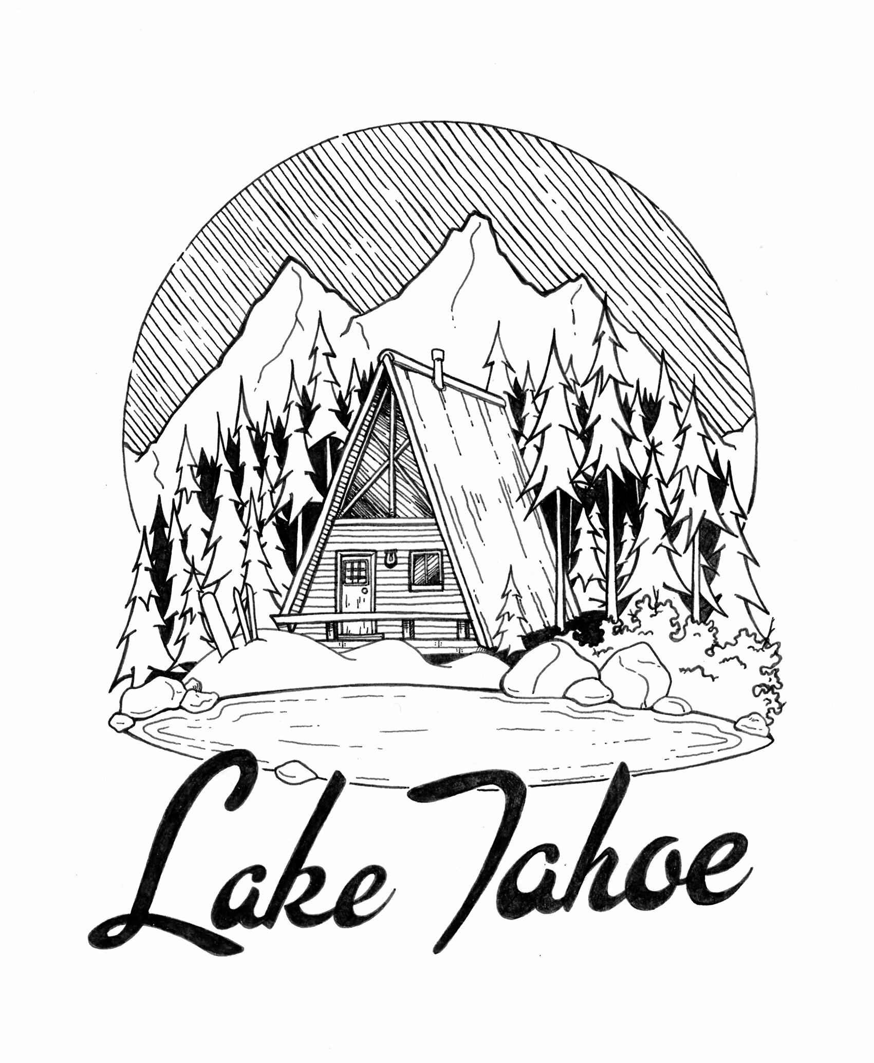 snow cabin in lake tahoe