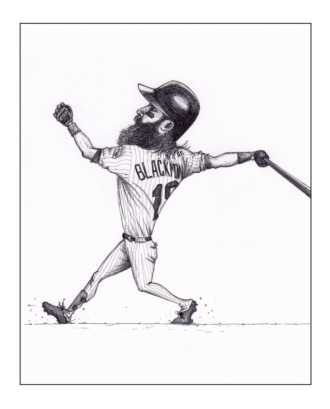 sketch of charlie blackmon