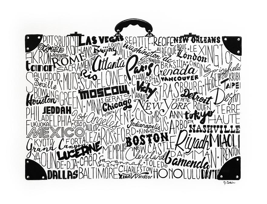 destination suitecase collage