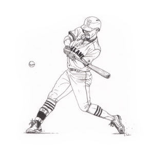 Black & White illustration of Cleveland Indians Shortstop Francisco Lindor