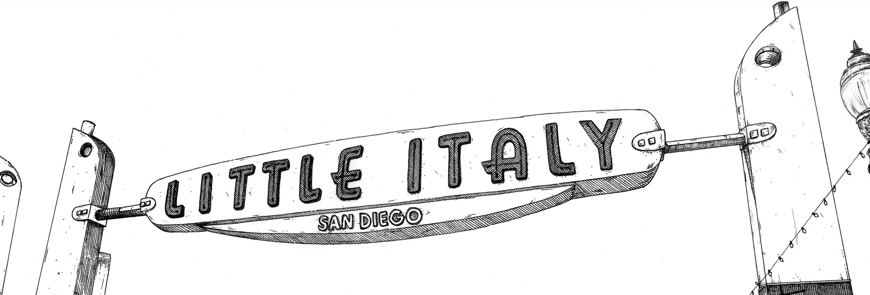 Line detail of Little Italy